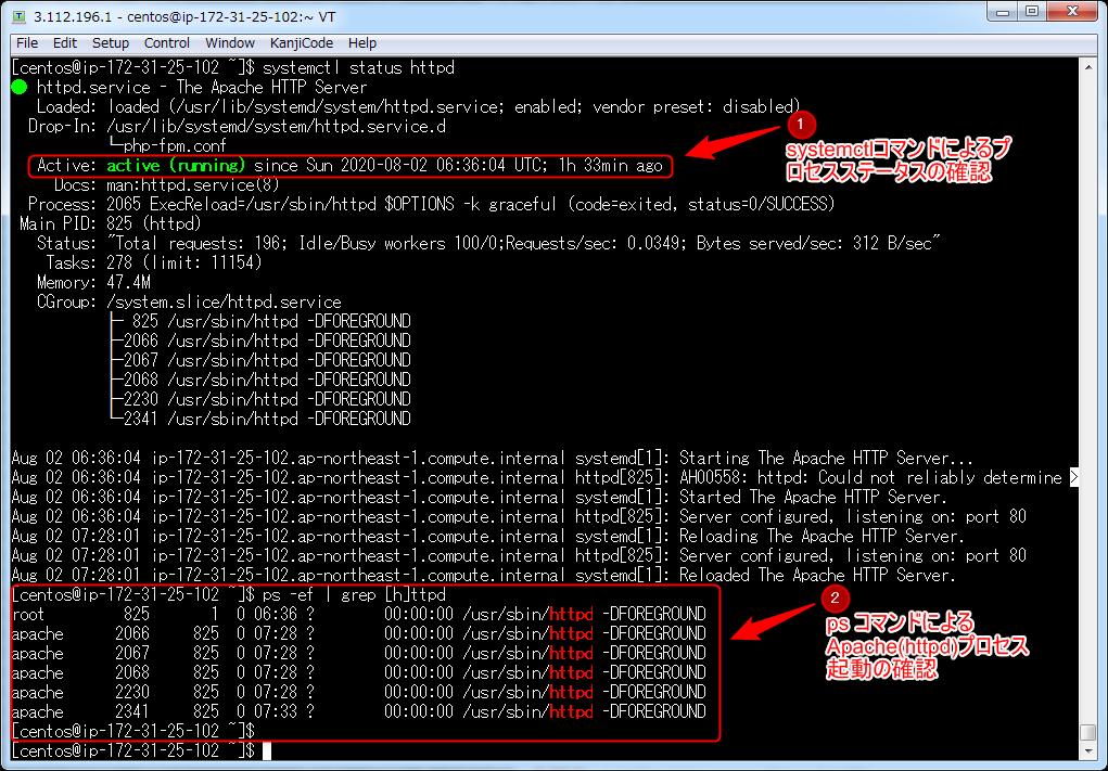 Linuxにおけるプロセス監視